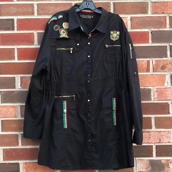 3af94afa COOGI Tops | Australia Military Style Dressshirt Sz 3x | Poshmark